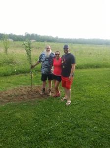 Grandpa with Lincoln's Memory Tree
