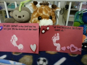 Valentine's from Lincoln to Mommy and Daddy.